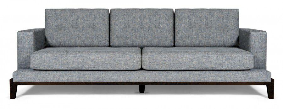 contemporary sofa / fabric / 3-seater / gray