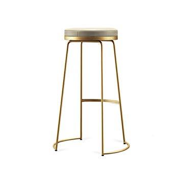 Amazon.com: Decorative stool Iron Art Bar Stools, Creative Golden PU