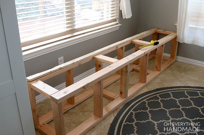 How to build a Kitchen Nook Bench » Oh Everything Handmade