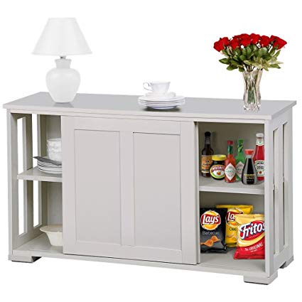 Amazon.com - go2buy Antique White Stackable Sideboard Buffet Storage