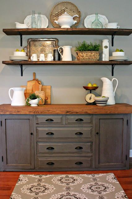 Our New BuffetBefore and After! | For the Home | Pinterest