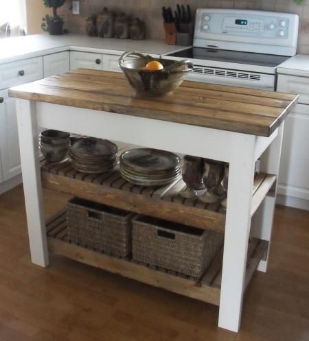Make your own kitchen cart/island for $50 | DIY in 2019 | Diy