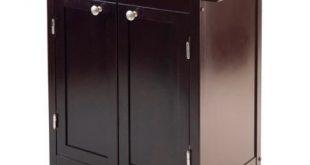 Amazon.com - Small Dark Espresso Kitchen Cart Rolling Cabinet Drawer