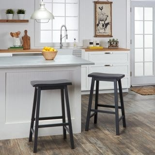 Shop Salvador Saddle 29-inch Counter Height Backless Stools (Set of