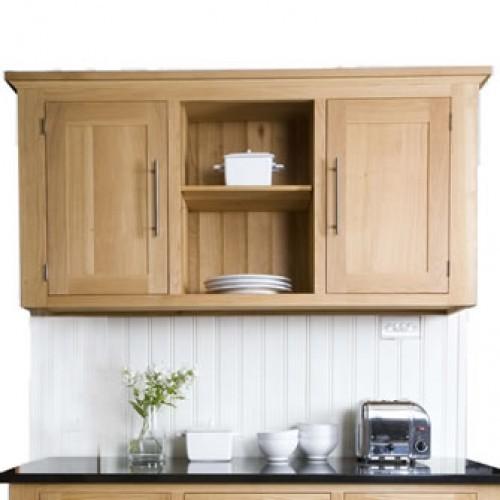 Creamery Kitchens Living Kitchen freestanding oak wall unit