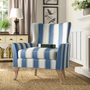 Blue Pattern Arm Chair | Wayfair