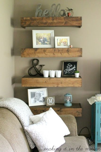 Making It In The Mitten: DIY Wood Shelves | For the Home | Pinterest