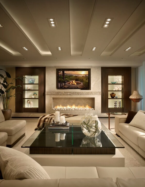27 Beautiful Living Room Shelves - Home Stratosphere