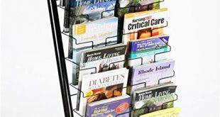Amazon.com : Displays2go 57-Inch Floor-Standing Wire Magazine Rack