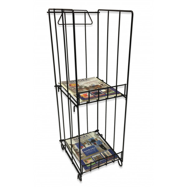 2 shelf Wire Magazine Rack   Magazine Displays   Siegel Display