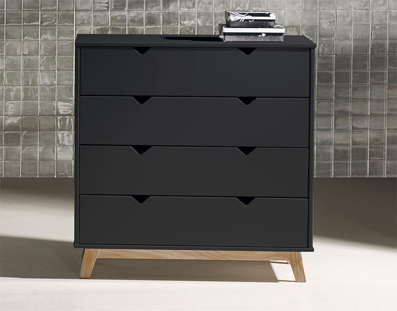Black Contemporary Chest Of Drawers