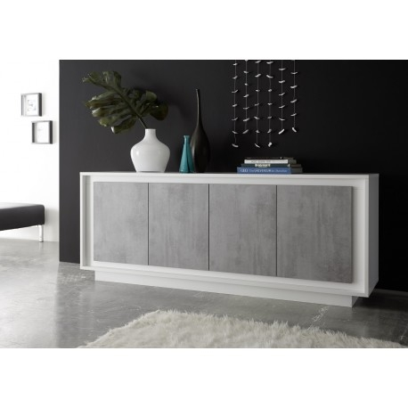 Stunning and Amber Iv Modern Sideboard With Stone Imitation Fronts