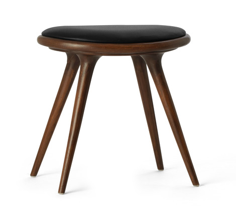 Mater Dark Stained Oak with Black Leather Stool - 2Modern