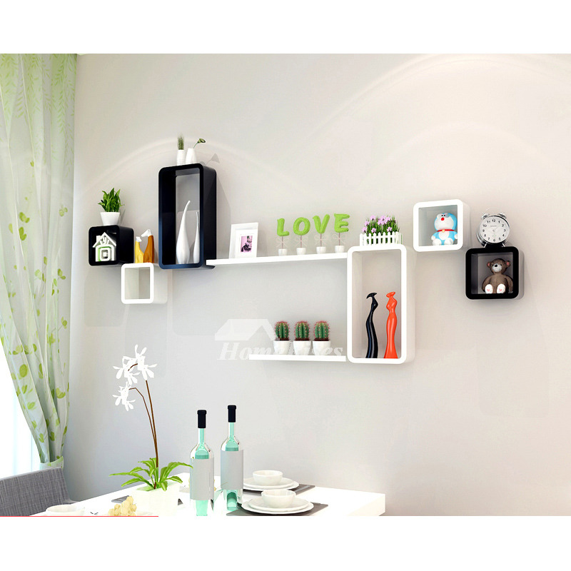 Pictures Show. Modern Wooden Cube Wall Shelves