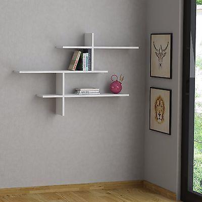 Leo Modern Wall Shelf White