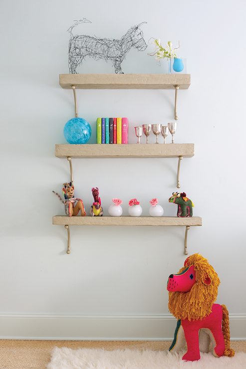 Lovely Nursery With Stacked Shelves By Birmingham Home And Garden