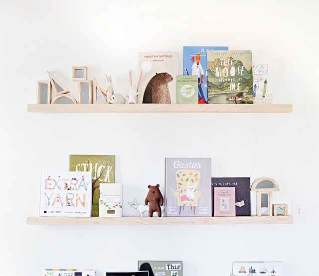 Sarah Sherman Samuel:the perfect white & DIY nursery shelves | Sarah
