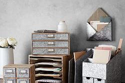 Brokers Wood & Galvanized Home Office Collection