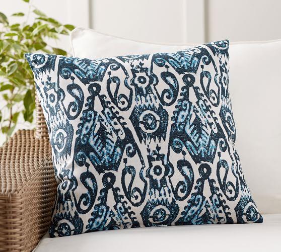 Sunbrella® Delphi Ikat Indoor/Outdoor Pillow | Pottery Barn