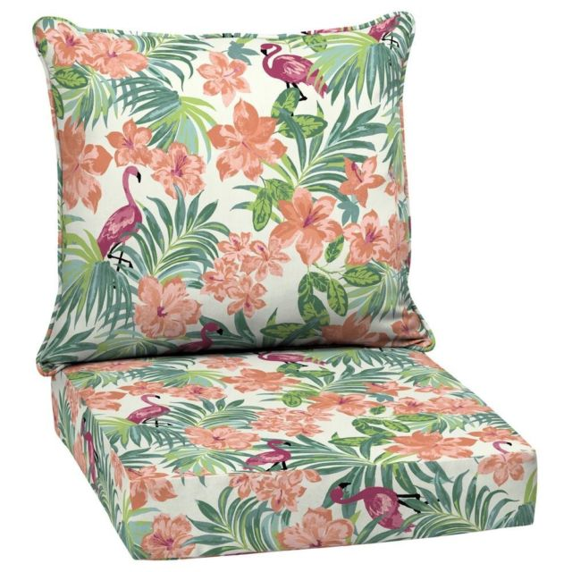 Flamingo Deep Seat Cushion Set of 2 Outdoor Chair Patio Dining