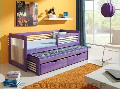 SINGLE BED WITH PULL OUT GUEST BED/2in1/WITH MATTRESS/CHILDRENS