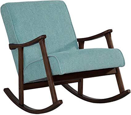 Amazon.com: Modern Rocking Chair Nursery Baby Retro Aqua Blue Fabric