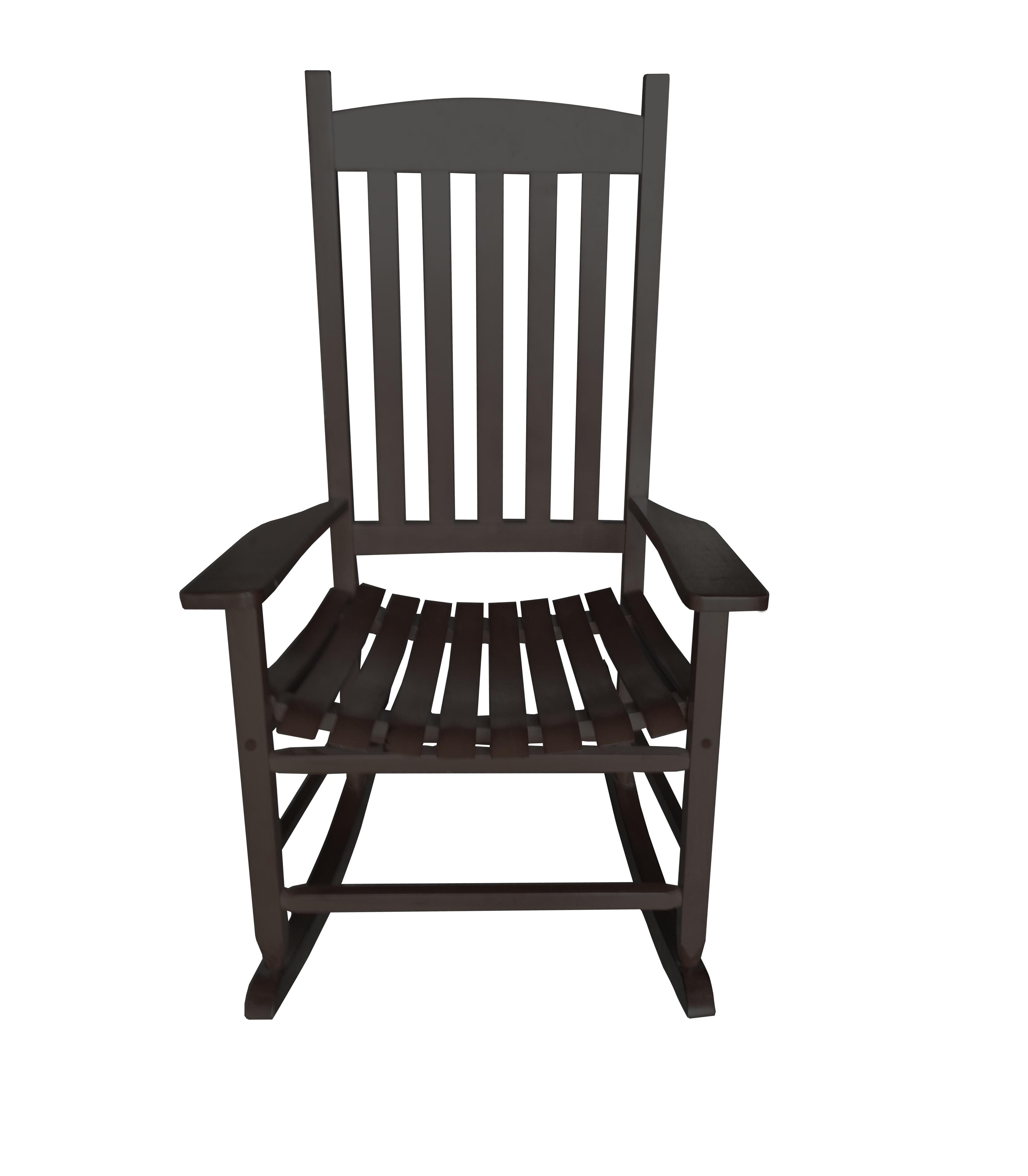 Mainstays Outdoor Wood Slat Rocking Chair - Walmart.com