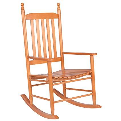 Amazon.com : Giantex Wood Outdoor Rocking Chair, Wooden Rocking