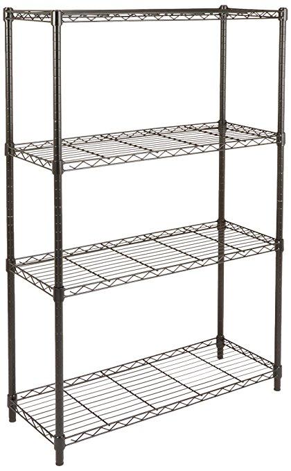 Amazon.com: AmazonBasics 4-Shelf Shelving Unit - Black: Home & Kitchen