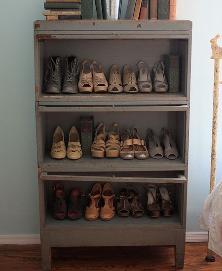 Click Pic for 32 DIY Shoe Organizer Ideas - Repurposed Dresser