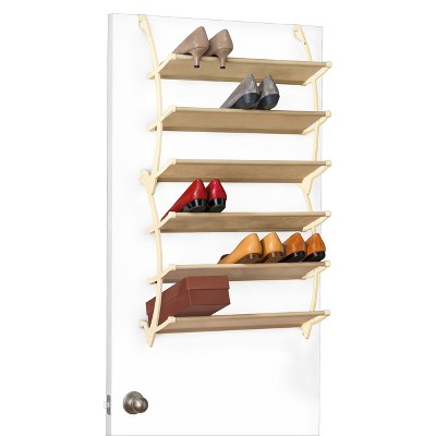 Lynk Vela Over Door Shoe Shelves - Shoe Rack Shelf - White : Target