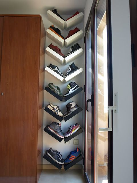 19 DIY Extra Storage Shoe Organizing Ideas: 13.Smart Shoe Shelves