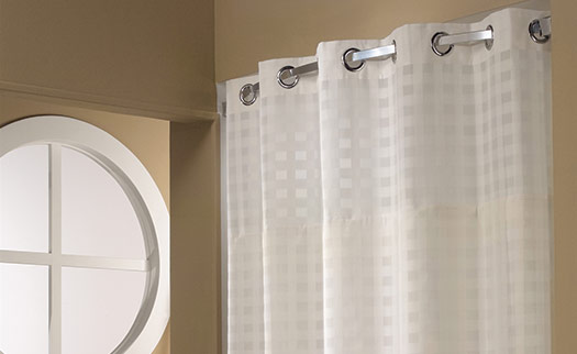 Basketweave Hookless® Shower Curtain | Hilton to Home Hotel Collection