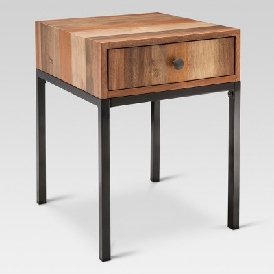 Hernwood Mixed Material Side Table - Brown - Threshold™ : Target