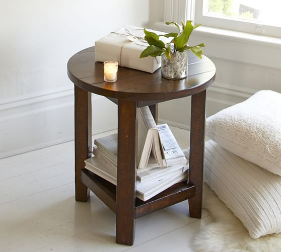 Benchwright Round End Table | Pottery Barn