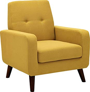 Amazon.com: Dazone Accent Chair Modern Armchair Upholstered Linen