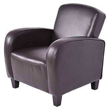 Amazon.com: Armchair, GentleShower Modern Space-Saving Brown Leather