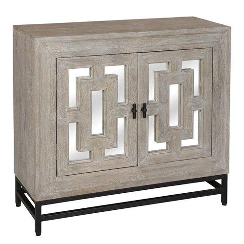 Marabella 2 Door Mirrored Wood Small Sideboard 41