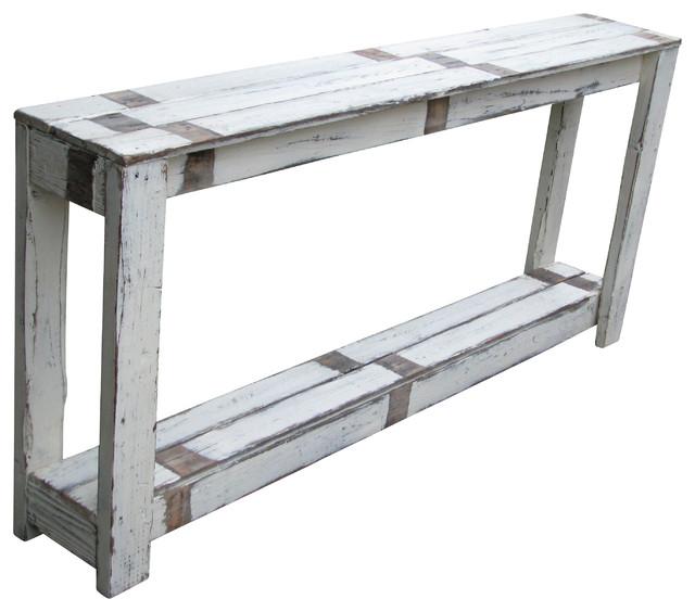 Sofa Table in Farmhouse White - Farmhouse - Console Tables - by Doug