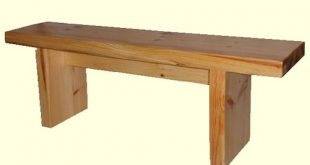 Simple outside wooden Bench | Solid wooden benches and bench seating