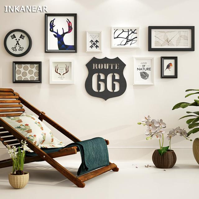 Solid Wood Modern Large Picture Frames Big Size Wooden Living Room