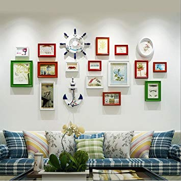 Amazon.com - [LOVES] Photo Wall Solid Wood Living Room Wall Surface