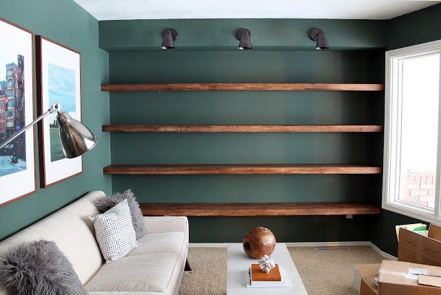 DIY Solid Wood Wall-to-Wall Shelves | DIY furniture | Wall Shelves