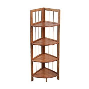 Amazon.com: Lil Shelf Solid Wood Shelves Floor Corner Shelf Bedroom