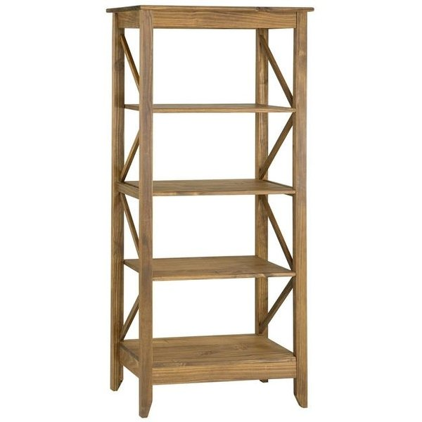 Shop Jay 31.5 in. Solid Wood Bookcase with 4 Shelves in Nature