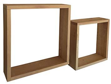 Amazon.com: Rustic Box Shelf Set - Solid Wood Shelf (2, NaturalCedar