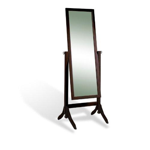 Amazon.com: New Cappuccino / Espresso Standing Cheval Floor Mirror