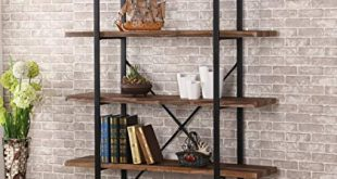 Amazon.com: O&K Furniture 5-Shelf Industrial Style Bookcase and
