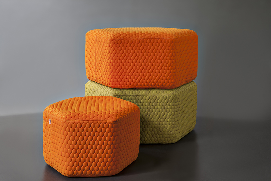 Stacking Hexa Pouf