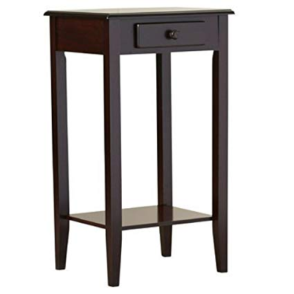 Amazon.com: Charlton Home Lydia Telephone Table, Cherry: Kitchen
